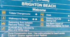 Brighton beach sign
