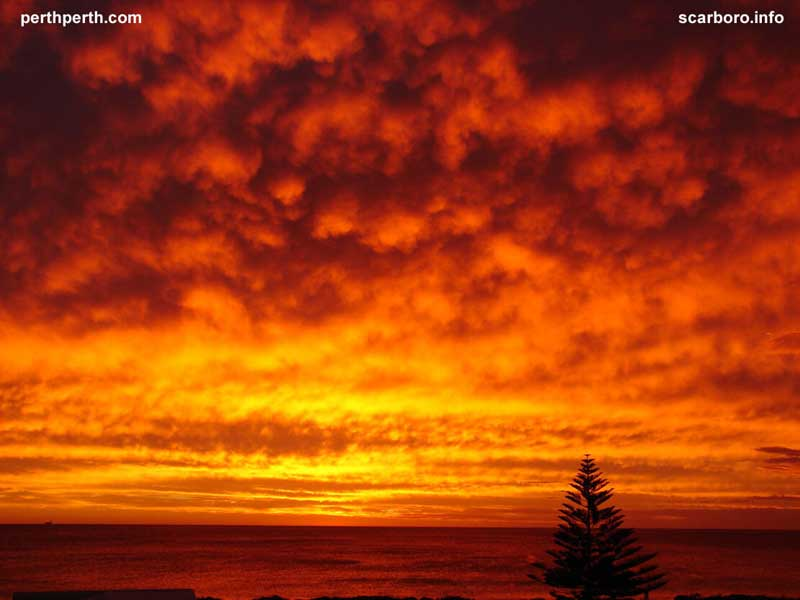 Cyclone sunset Scarborough Beach Indian Ocean